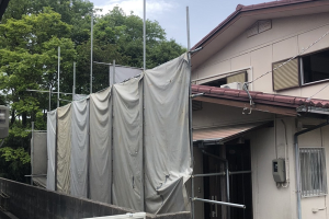 川西ZEH住宅の解体が始まりました!!