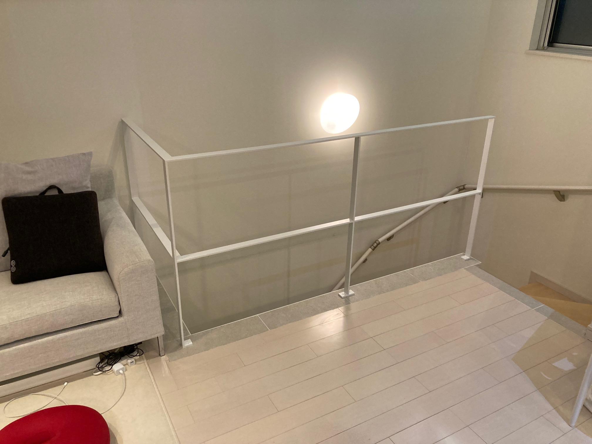 階段まわりの壁をアイアンリノベ